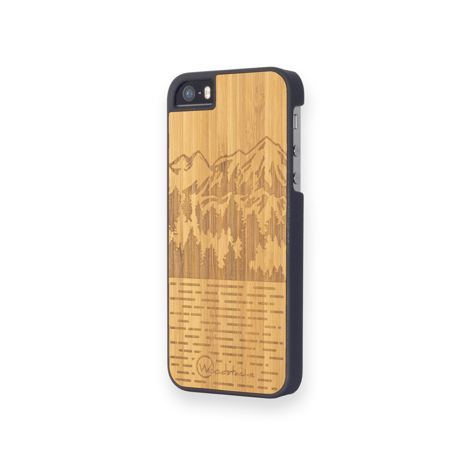 Coque iPhone 5SE Mammoth bambou profil