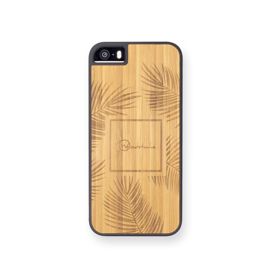 coque iphone 5se palm bambou face woodstache coque iphone en bois et clavier en bois macbook. Black Bedroom Furniture Sets. Home Design Ideas