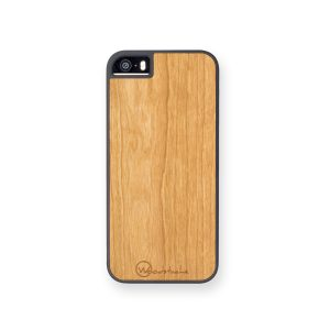 coque iphone 5 wood merisier