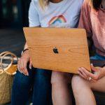 cover MacBook bois woodstache