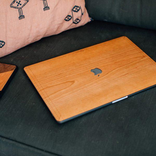 coque MacBook Pro en bois