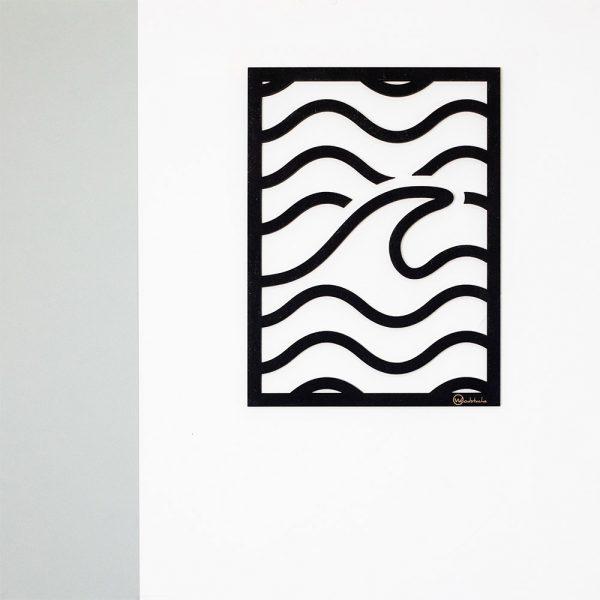 Tableau en bois wave