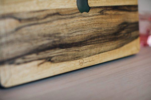 cover macbook bois black frake woodstache