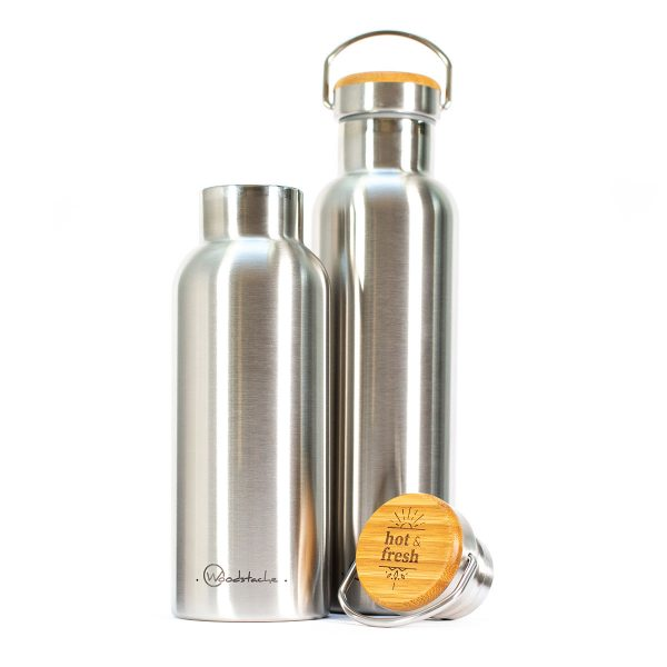 Gourde Thermos Métallique woodstache