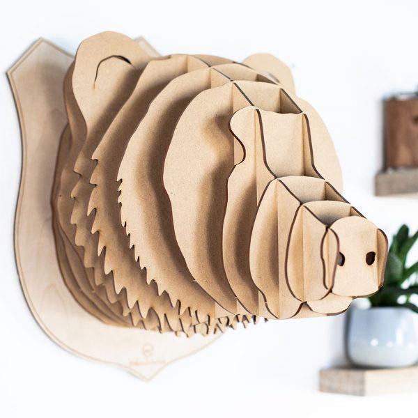 Tete d'ours en bois made in france
