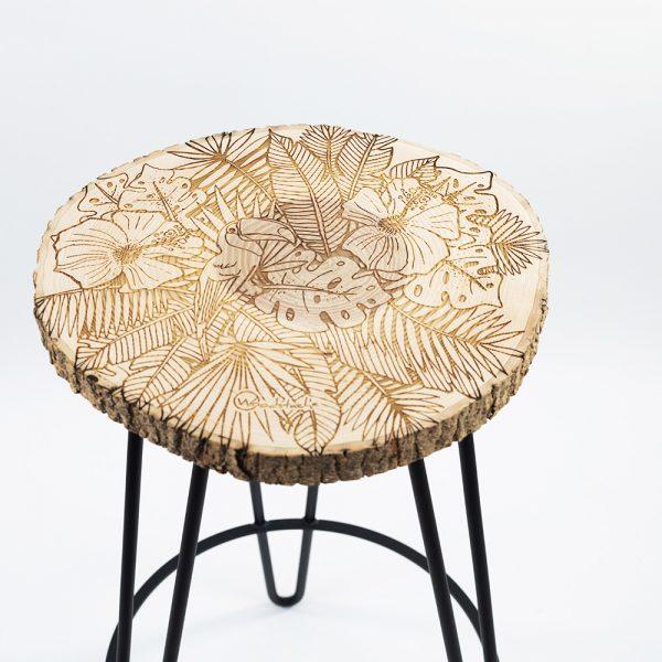 Tabouret en bois rondelle