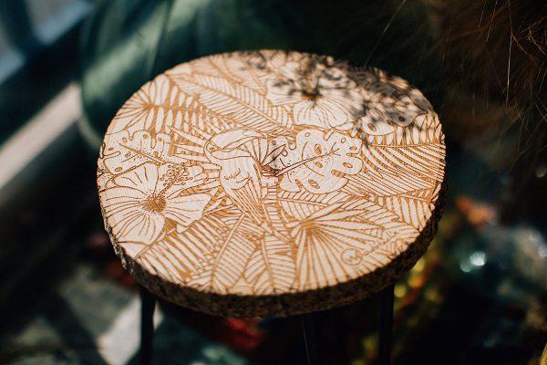 tabouret rondin bois woodstache