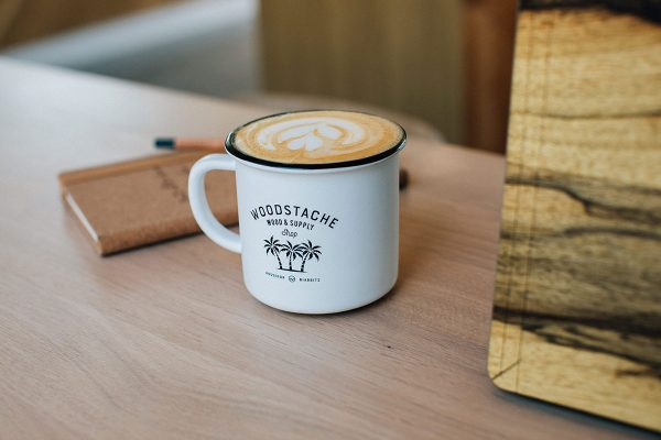 mug camper céramique woodstache