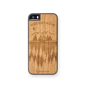 coque get lost en bois woodstache