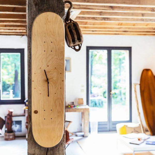 Horloge skate horloge skateboard woodstache