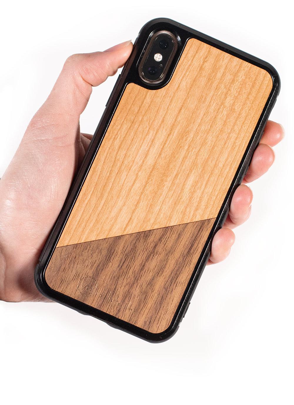 Coque en bois iPhone X
