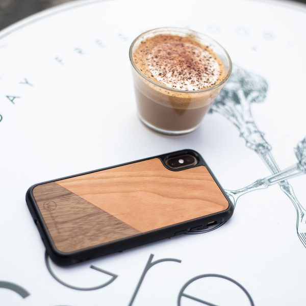 coque iPhone bois dual woodstache