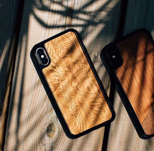 coque iPhone bois jungle woodstache