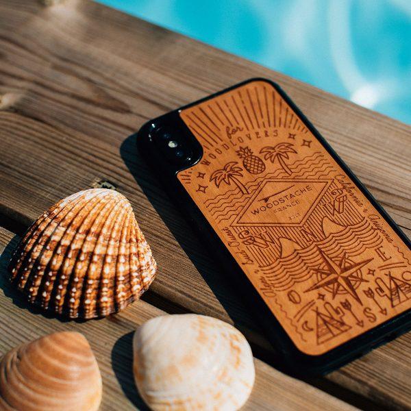 coque iphone bois story woodstache