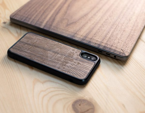 Coque en bois iPhone XR