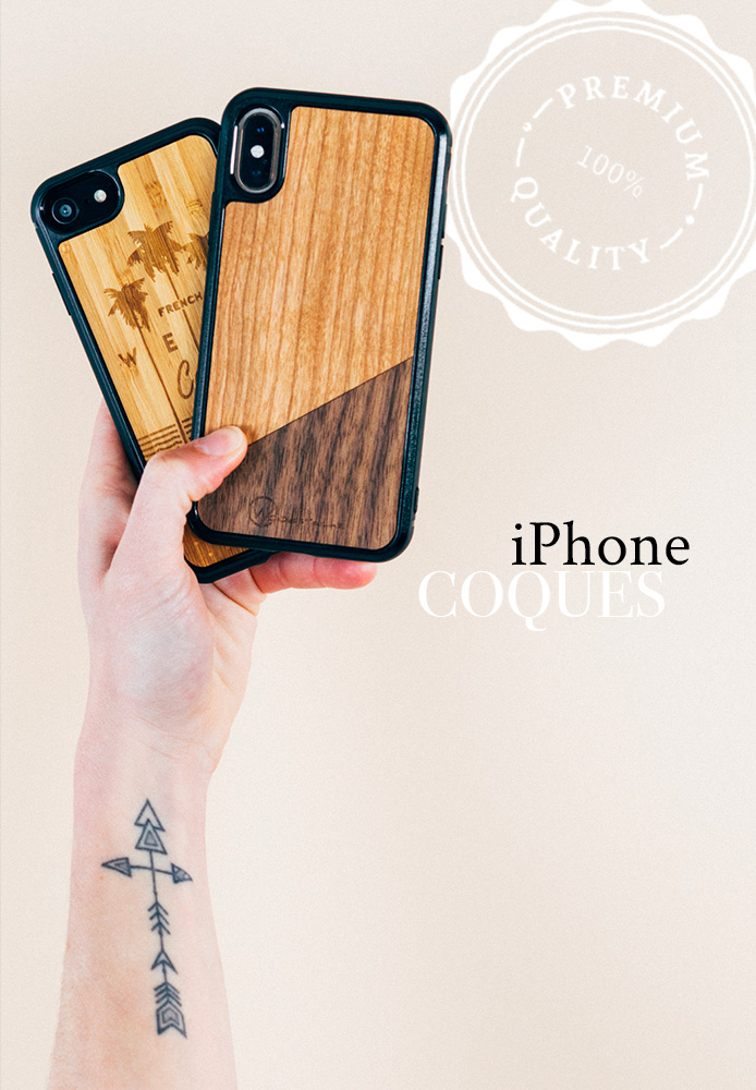 Coque iPhone en bois made in France
