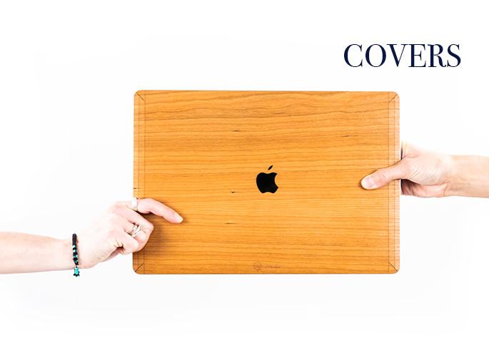 Cover macbook en bois made in france