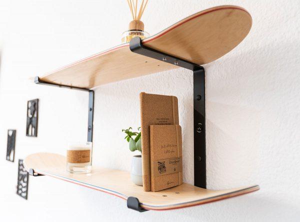 Etagère skateboard double