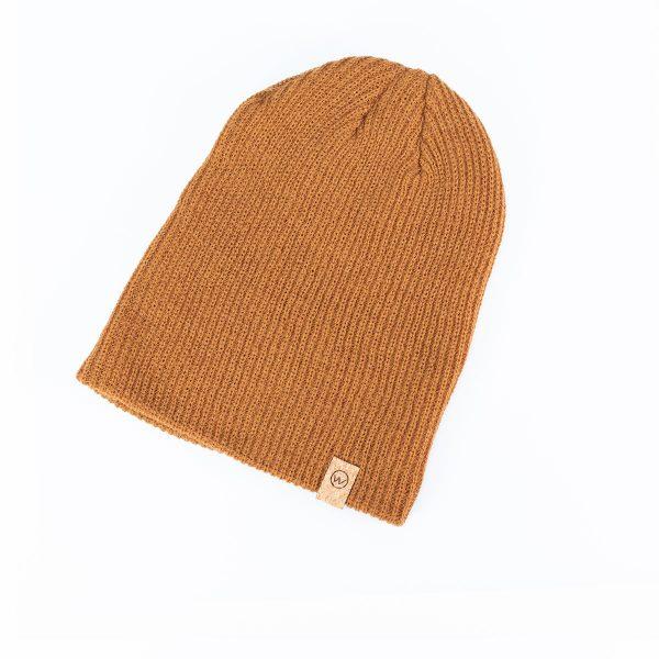 bonnet woodstache marron