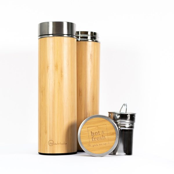 Thermos en bambou