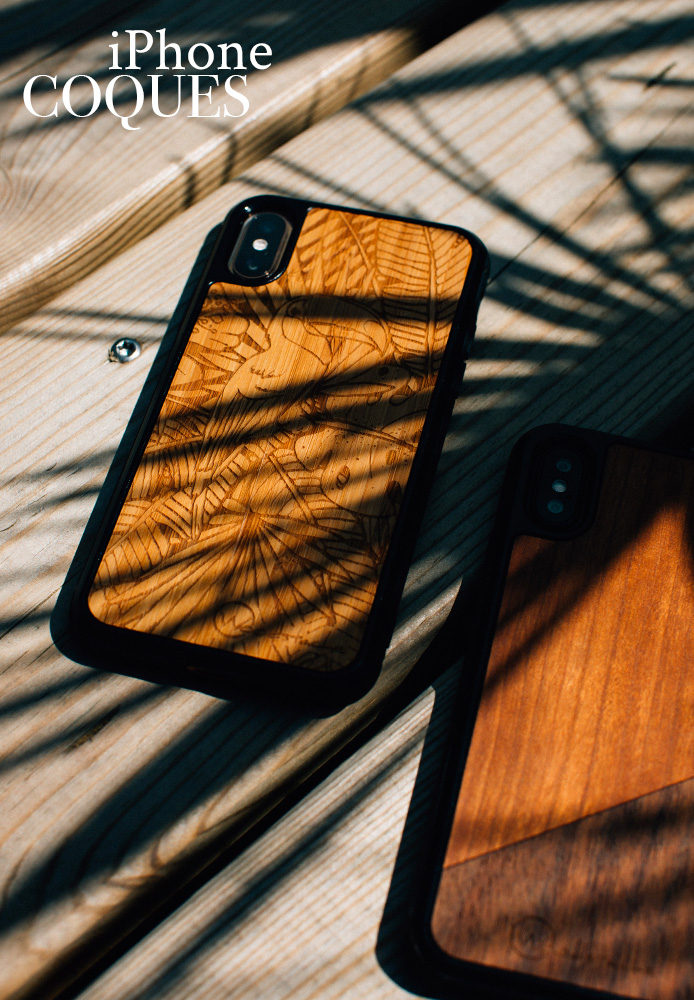 coque iPhone woodstache