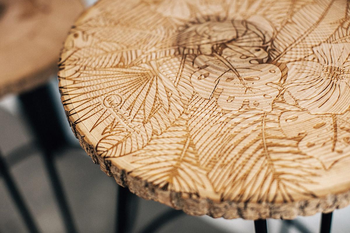 woodstache tabouret en bois