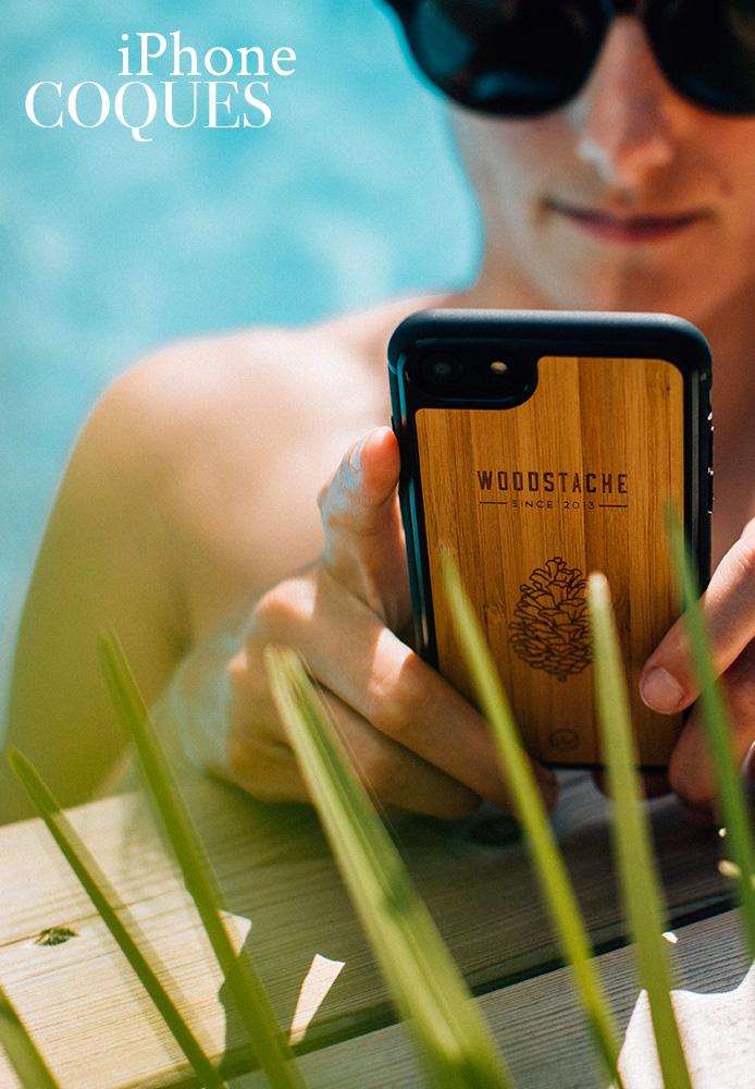 coque iPhone woodstache