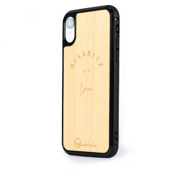 Coque iPhone woodstache biarritz