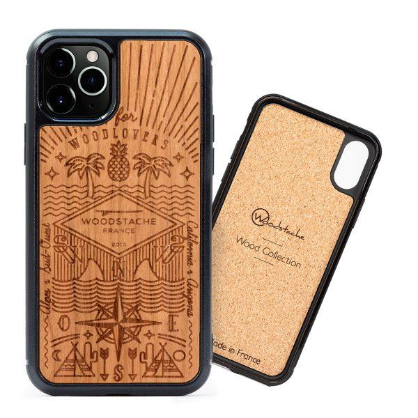 Coque iPhone en bois Story