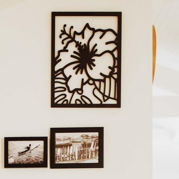 tableau en relief 3D hibiscus