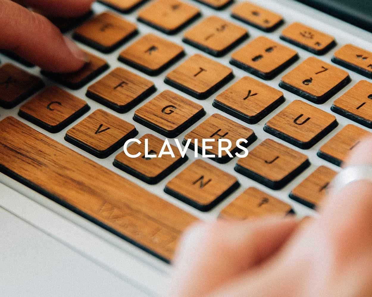 clavier en bois