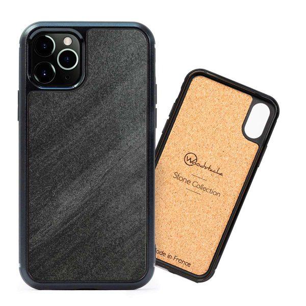 coque iPhone en pierre noire