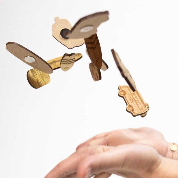 magnets en bois